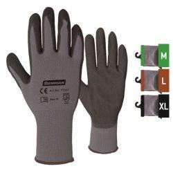 77357 -  10''/XL - szürke nylon kötött bélés  kesztyű, fekete nitril (NBR), tenyér dupla bevont, durva kivitel, kötött mandzsetta,  10''/XL